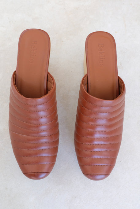 Beklina Ribbed Lego Clog Wet Clay