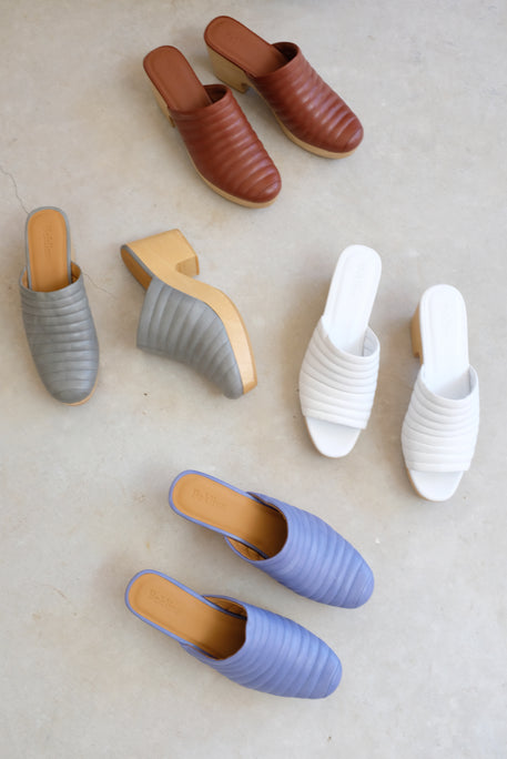 Beklina Ribbed Clog White