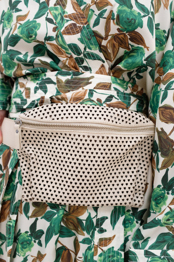 Rachel Comey Hagen Fanny Pack Punched Leather Bone