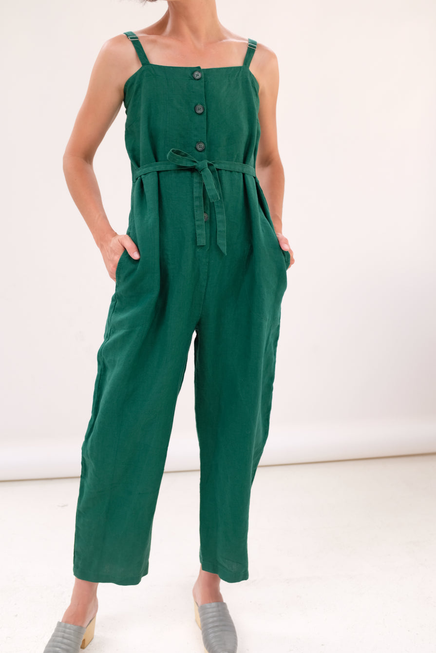Gravel and Gold Twyla Jumpsuit Basil
