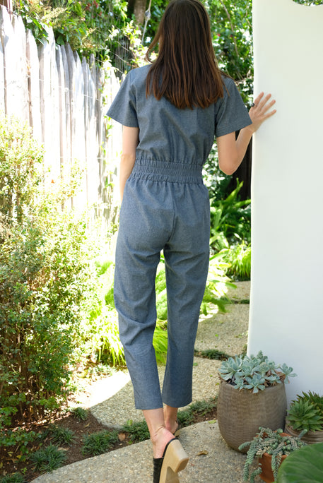 Beklina Ottanta Jumpsuit Blue Chambray