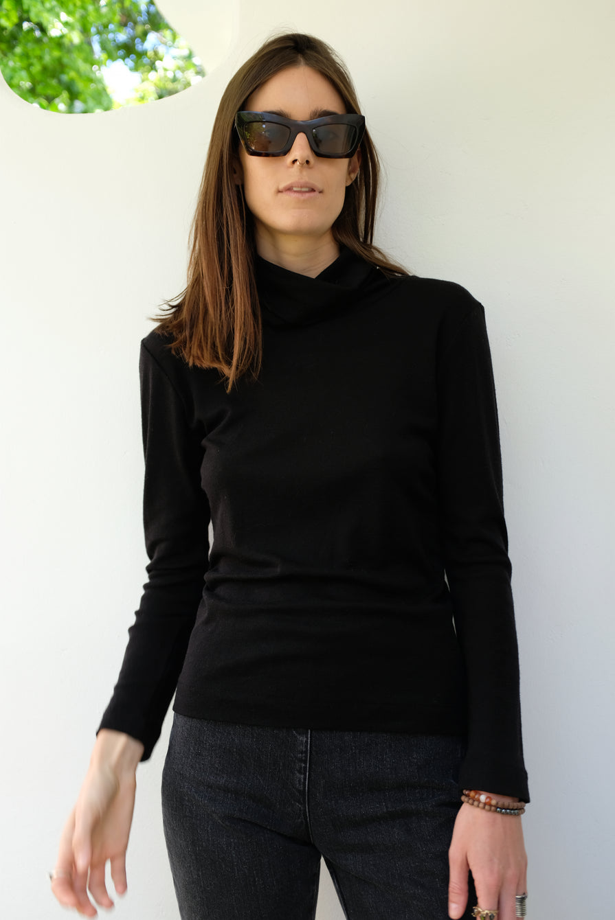 Beklina Merino Turtleneck Black