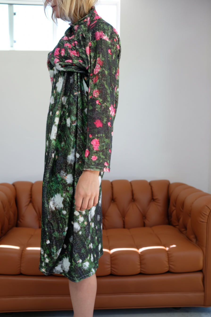 Anntian Sweat Long Dress Print MN