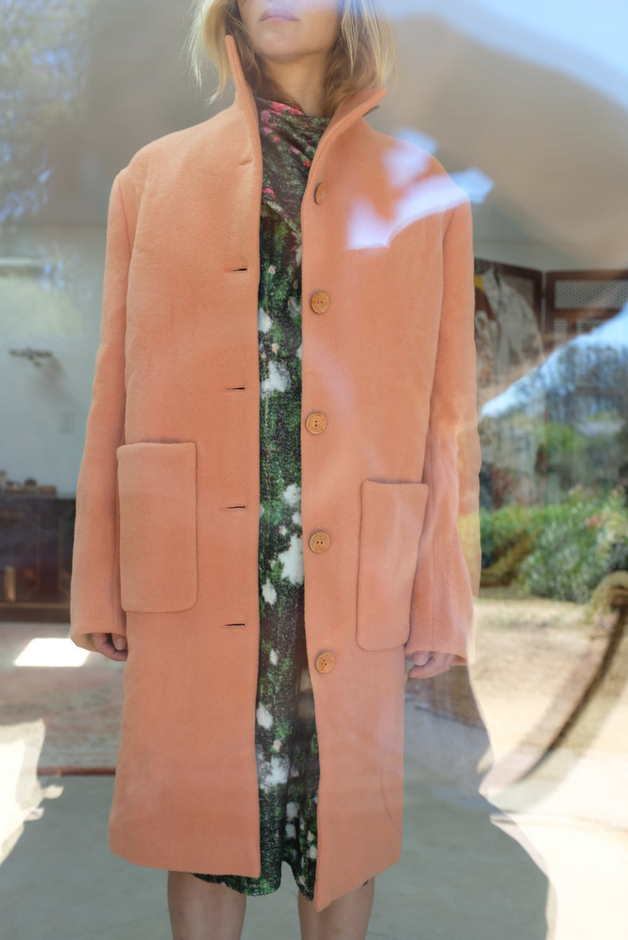 Anntian Long Shapy Jacket Rust Apricot