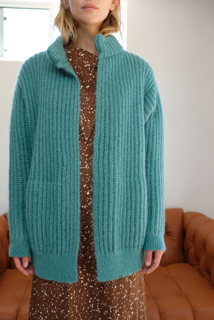 Reality Studio Iris Knit Jacket Green