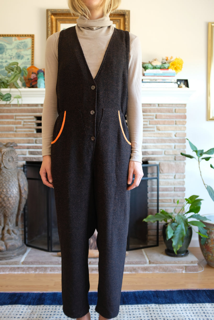 Hui Hui Overall Black/Brown