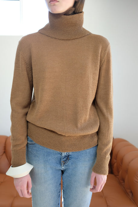 Beklina Baby Alpaca Turtleneck Brown