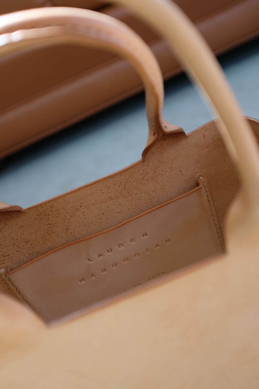 Lauren Manoogian Box Tote Natural