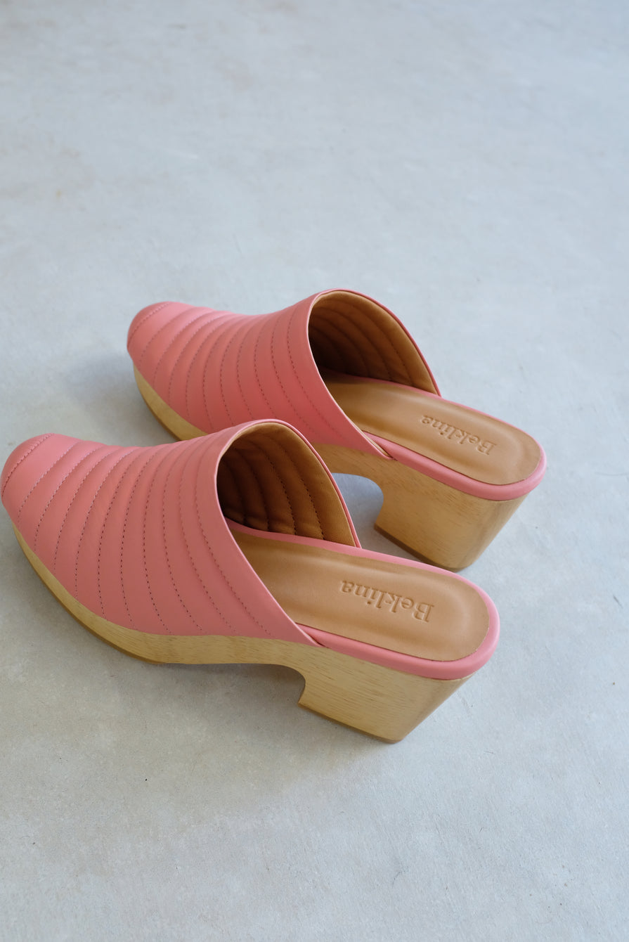 Beklina Ribbed Clog 80's Blush