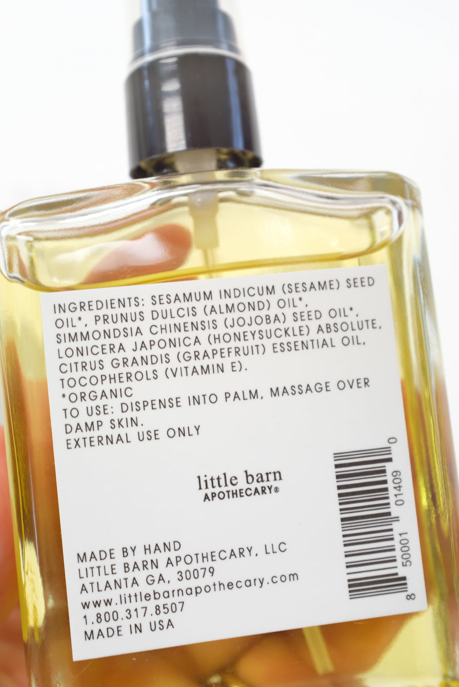 Little Barn Apothecary Honeysuckle and Grapefruit Body Oil