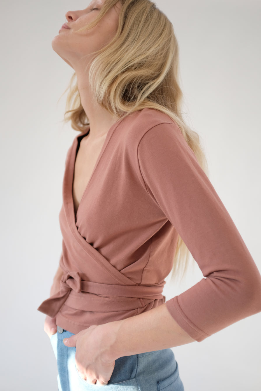 Beklina Kudu Wrap Top Cinnamon