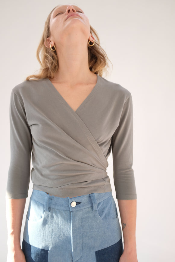 Beklina Kudu Wrap Top Swamp