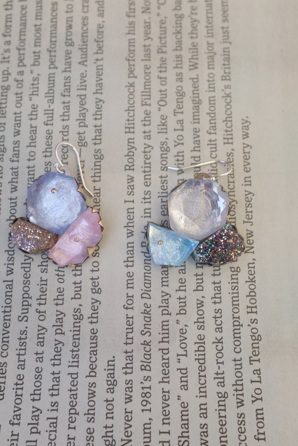 Nikki Couppee Pastel Glitter Gem Earrings