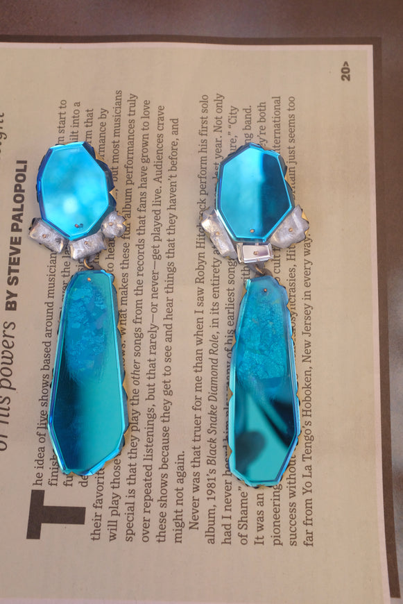 Nikki Couppee Blue Cocktail Earrings