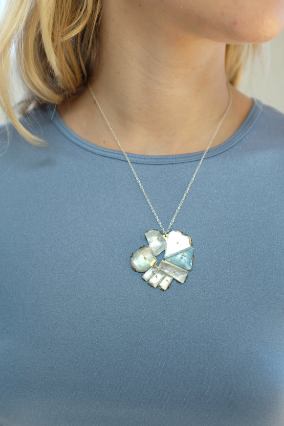 Nikki Couppee Mirrored Ice Necklace