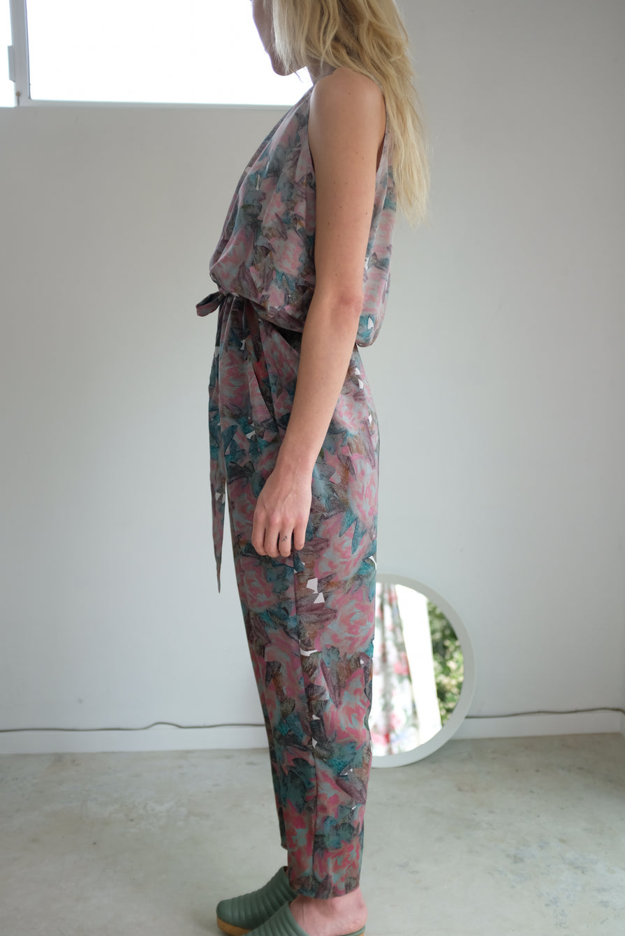 Anntian Long Overall Panel Print J