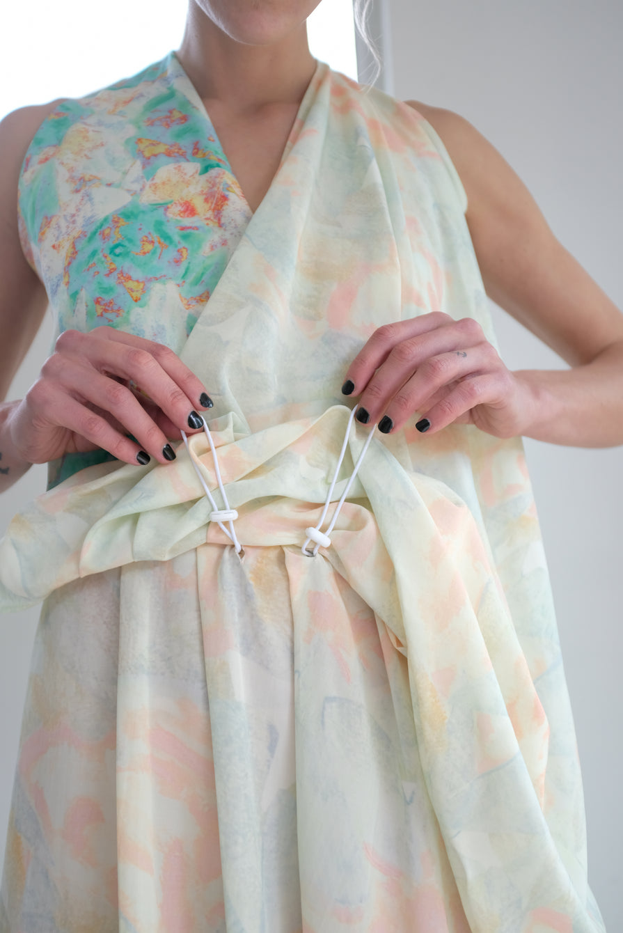 Anntian Dress Print Y Rose Pale