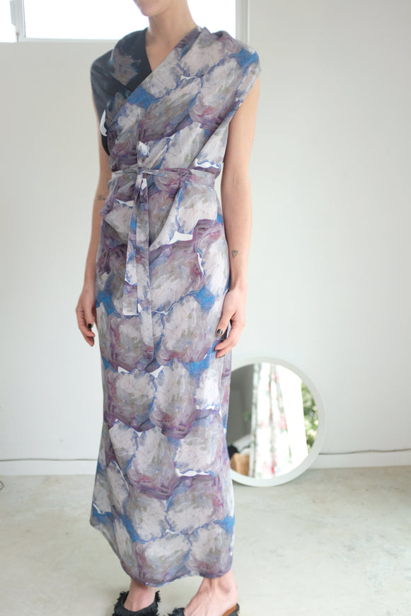 Anntian Wrapp Dress Print G-VV