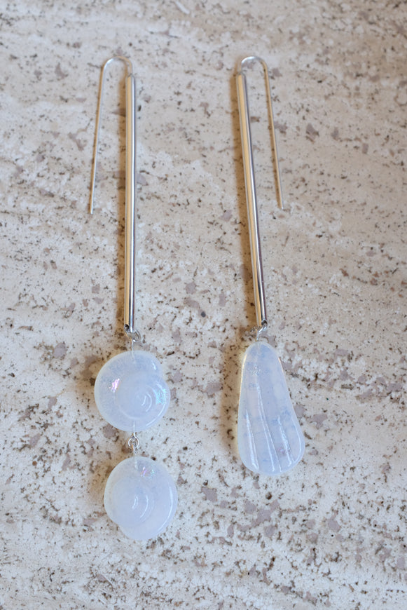 Leigh Miller Sterling Silver Shoreline Drops Earrings