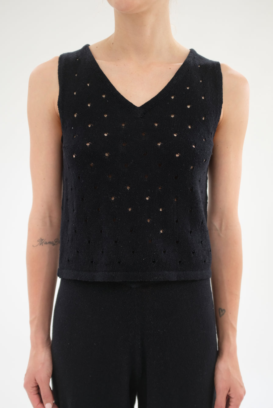 Beklina Baranca Knit Tank Top Black