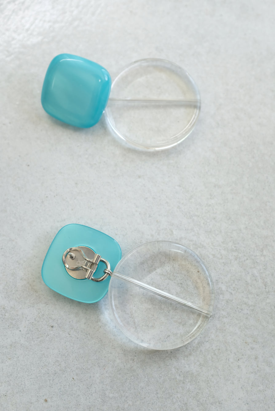 Rachel Comey Arc Earrings Aqua Marble