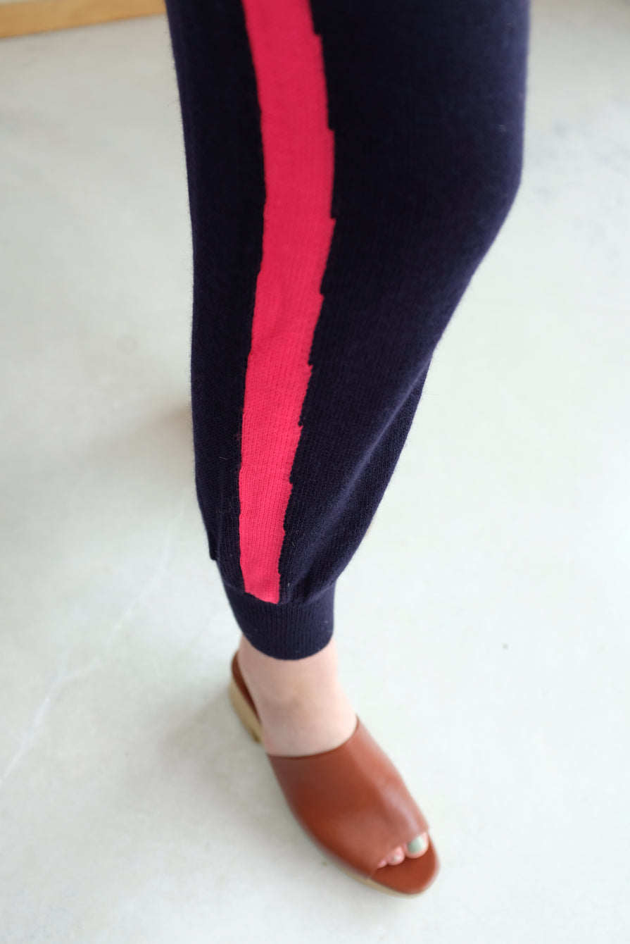 A Détacher Kiev Pant Navy/Red Fluo