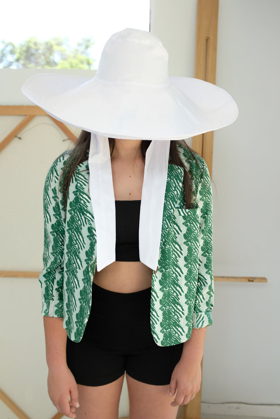 Beklina Voluminoso Tie Hat White