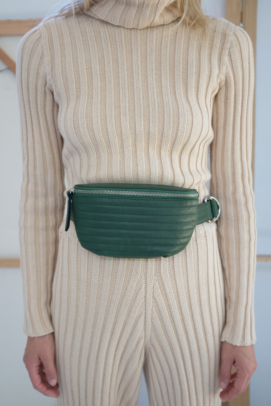 Beklina Ribbed Belt Bag