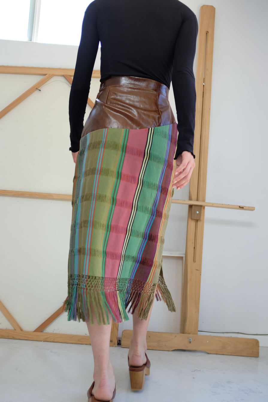 Mozh Mozh Tassel Skirt Brown