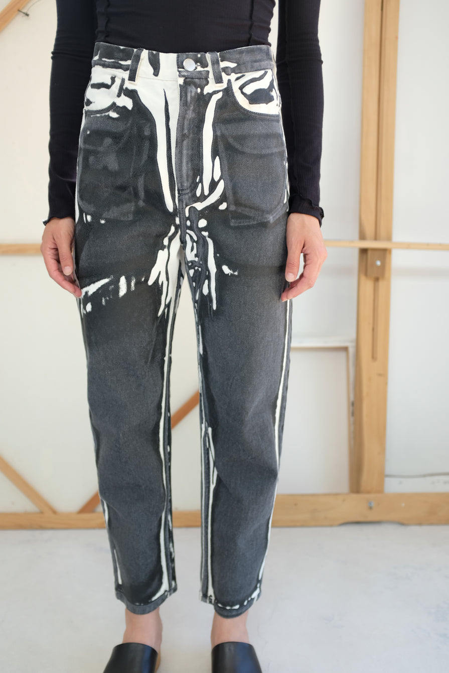Anntian Womens Pant Screenprint D