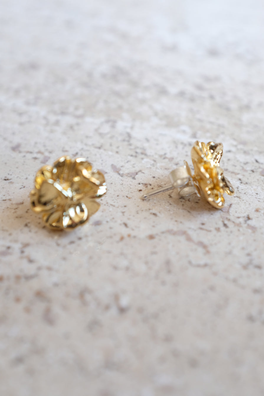 Leigh Miller Gold Poppy Stud Earrings