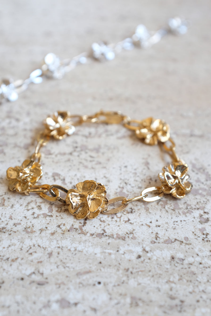 Leigh Miller Gold Poppy Chain Bracelet