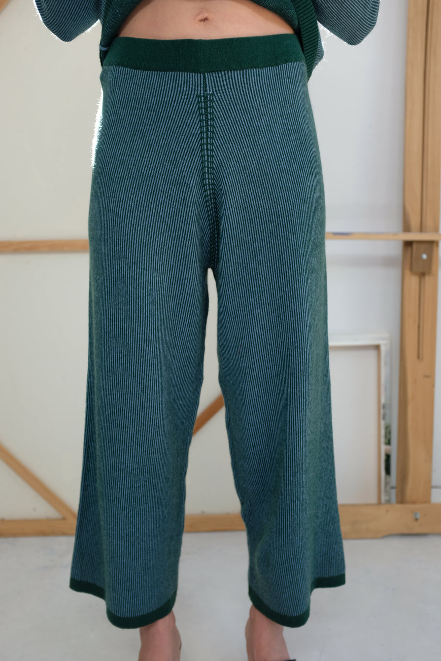 Beklina Cashmere Ribbed Trouser Lake
