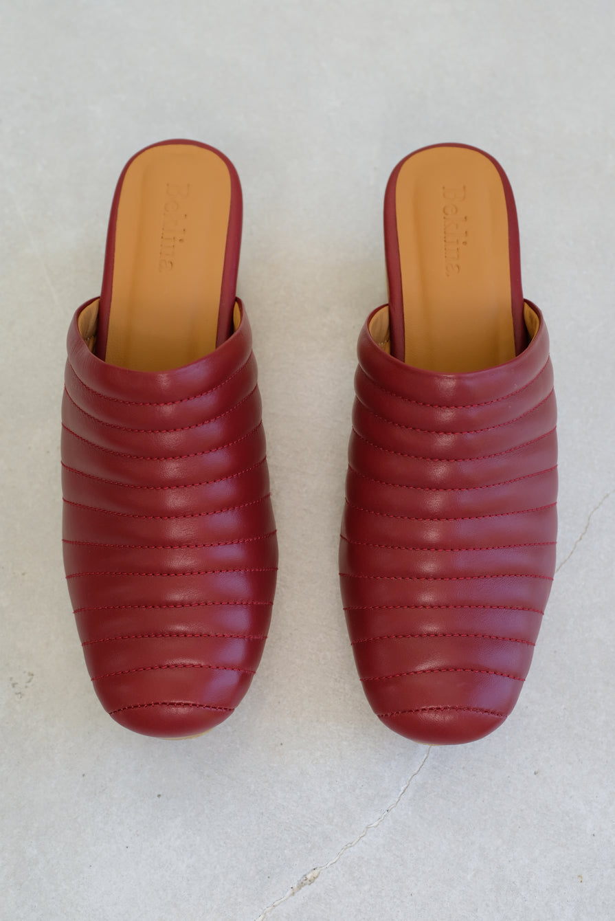 Beklina Ribbed Clog Blood