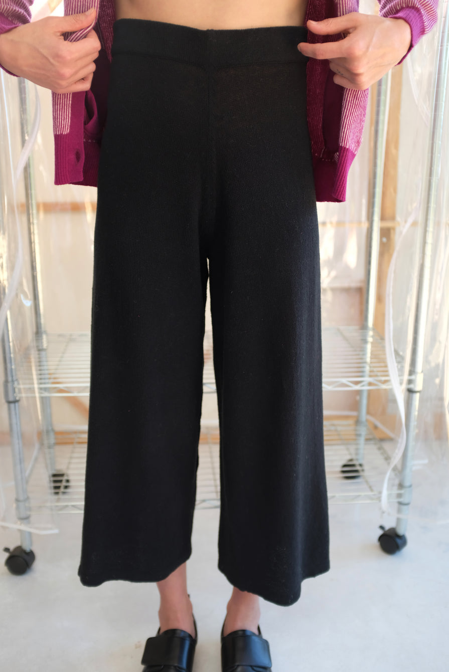 Beklina Culotte Knit Trouser Black