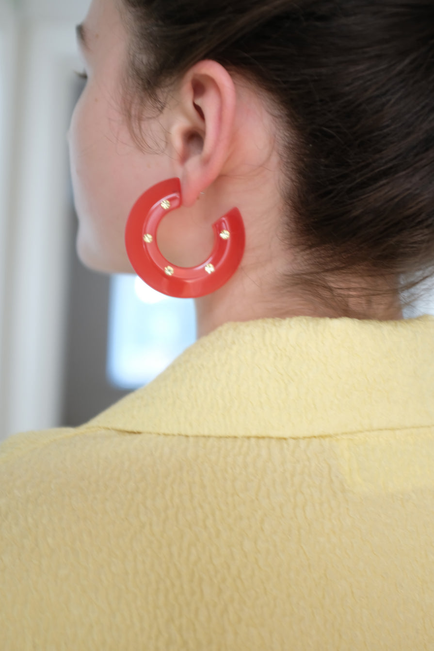 Rachel Comey Hula Earrings Red