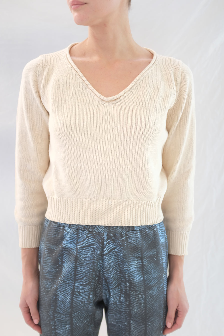 Beklina Latta V-neck Sweater Straw