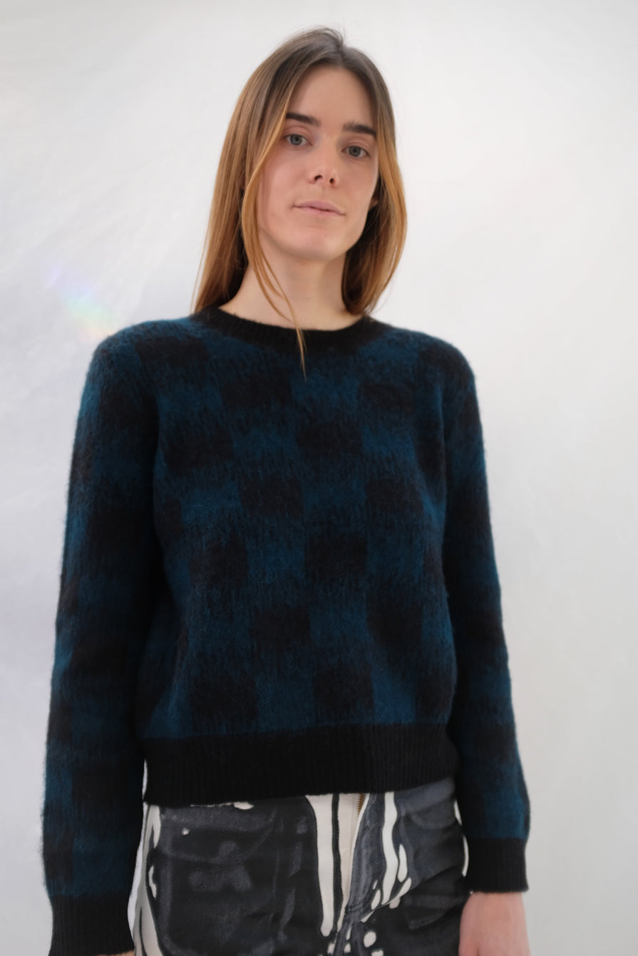 Beklina Bofill Crew Sweater Emerald/Black