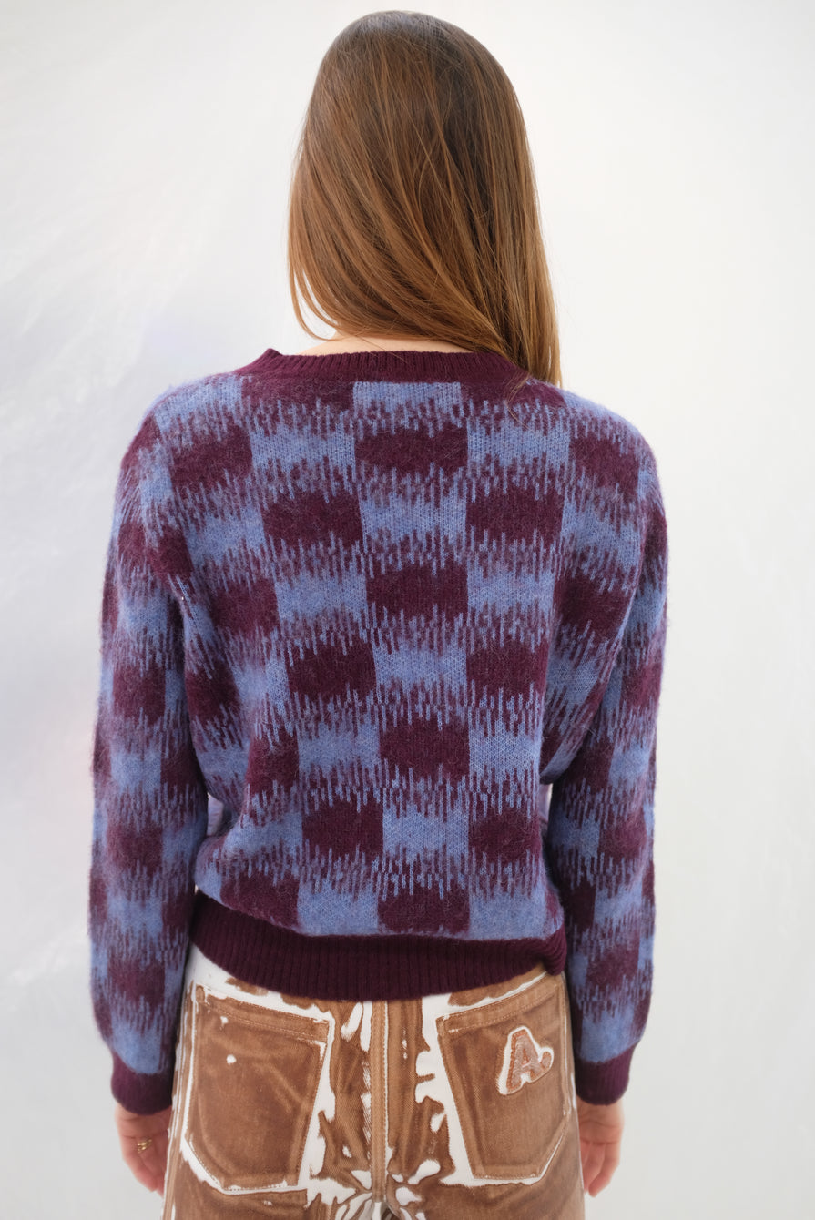 Beklina Bofill Crew Sweater Berry/Wine