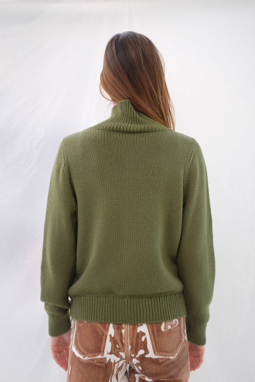 Beklina Knit Bomber Jacket Avocado