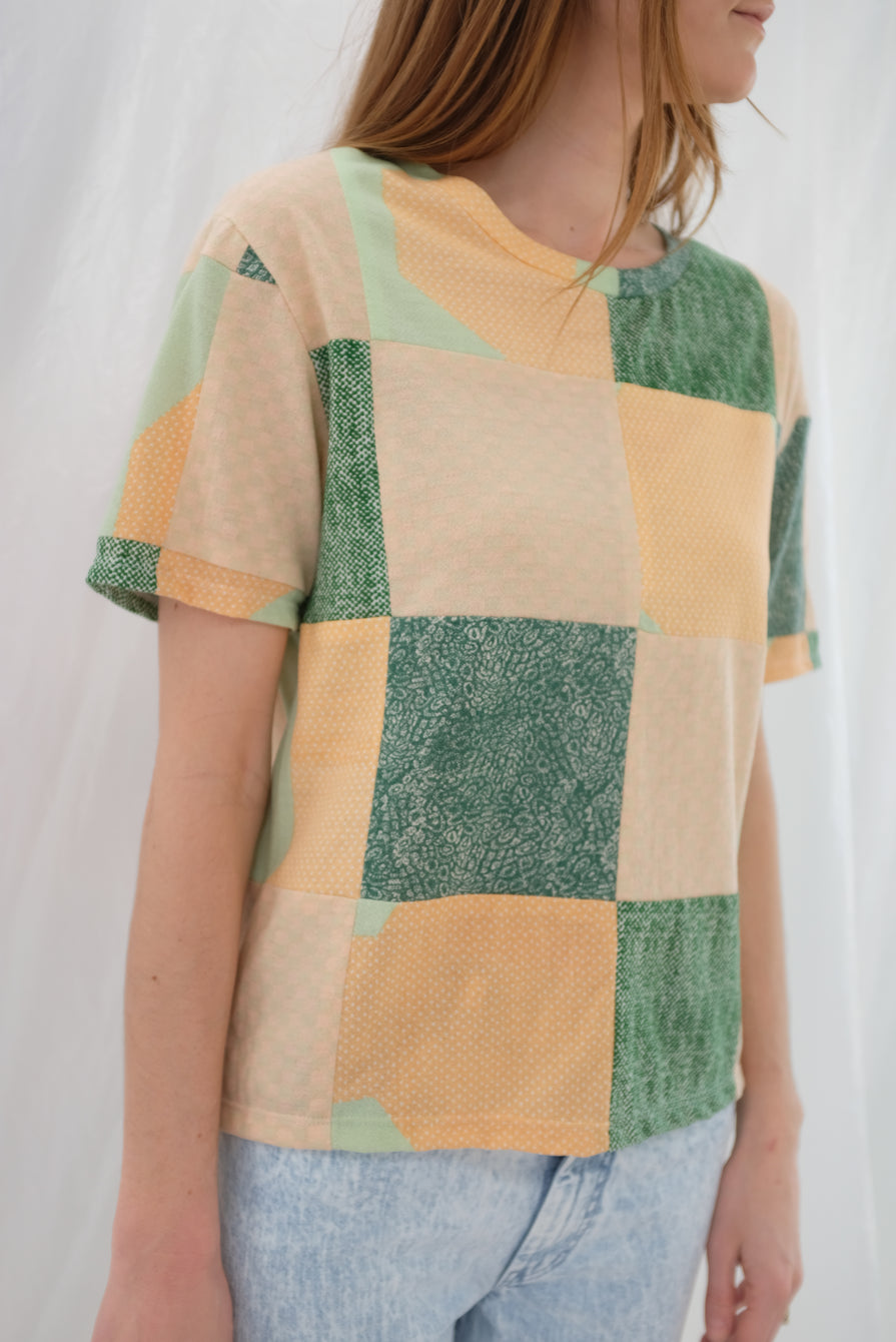 Beklina Quilted Checkered Art T-Shirt