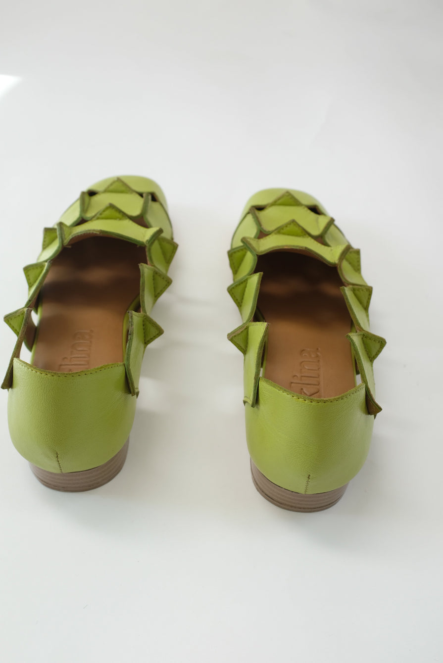 Beklina Square Pieced Flats Lime