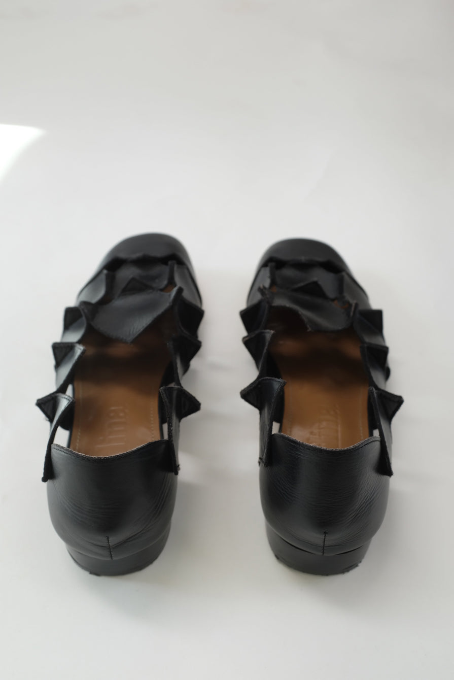 Beklina Square Pieced Flats Black