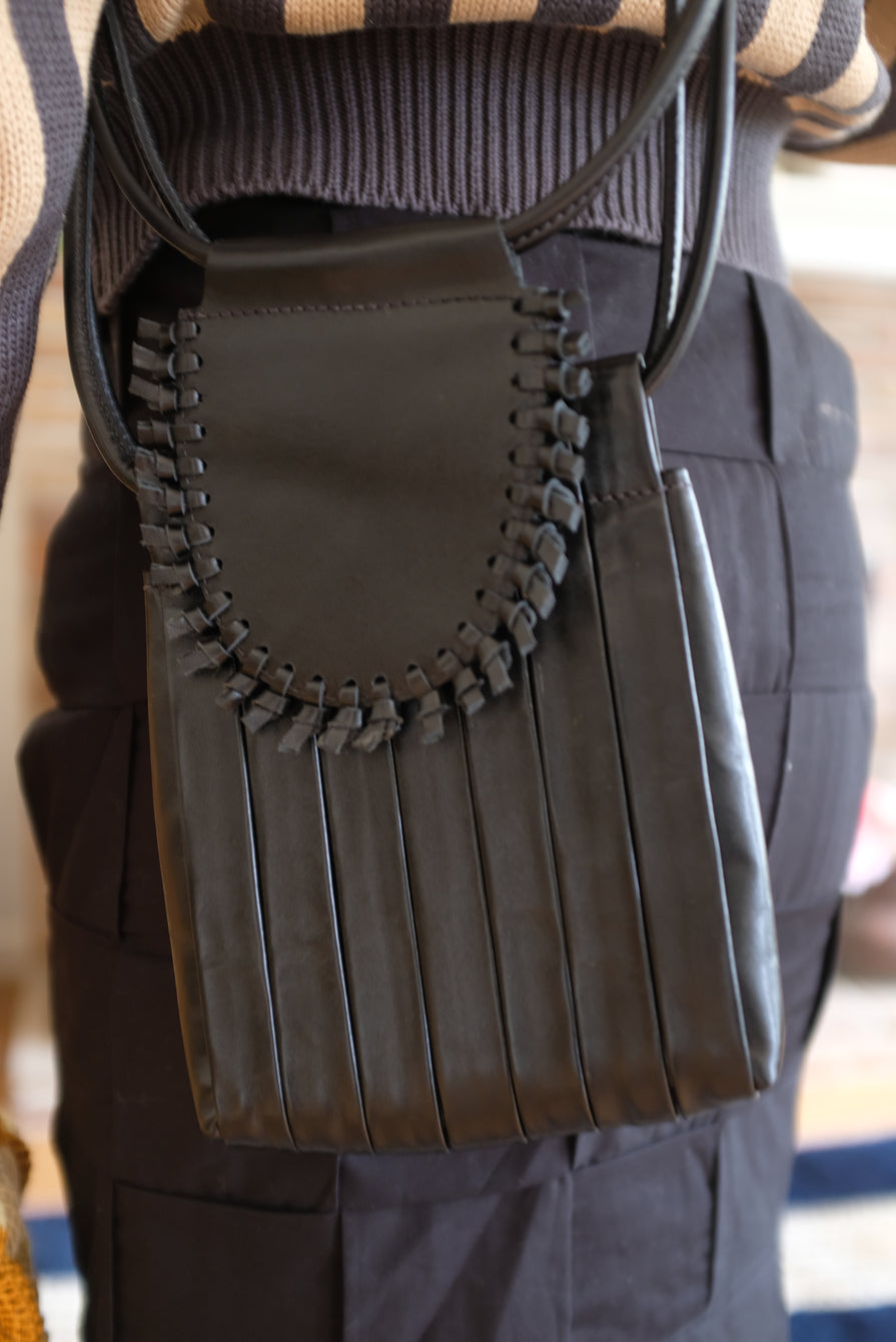 Beklina Pleated Bag Black