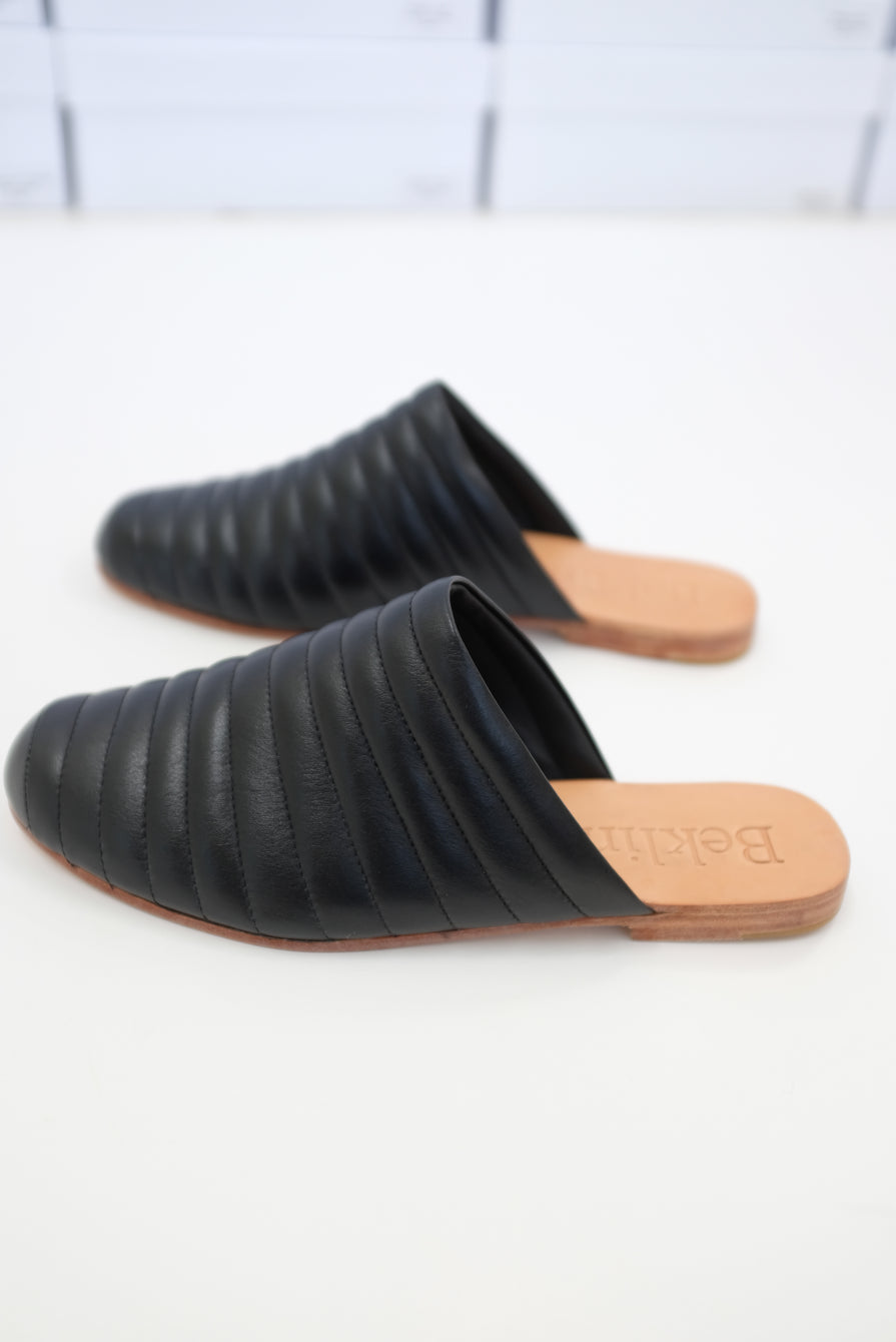 Beklina Ribbed Flats Black