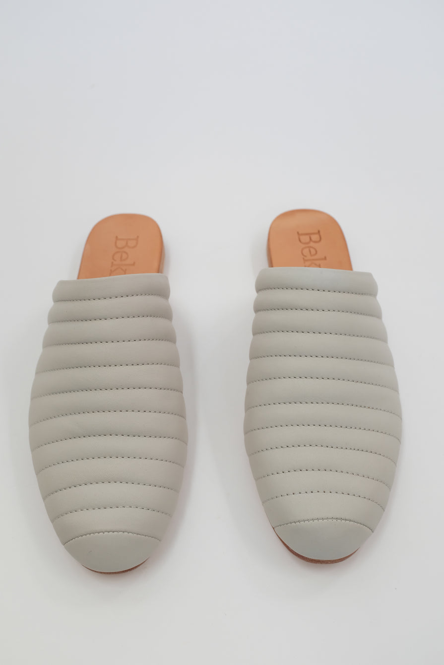 Beklina Ribbed Flats Soft Grey