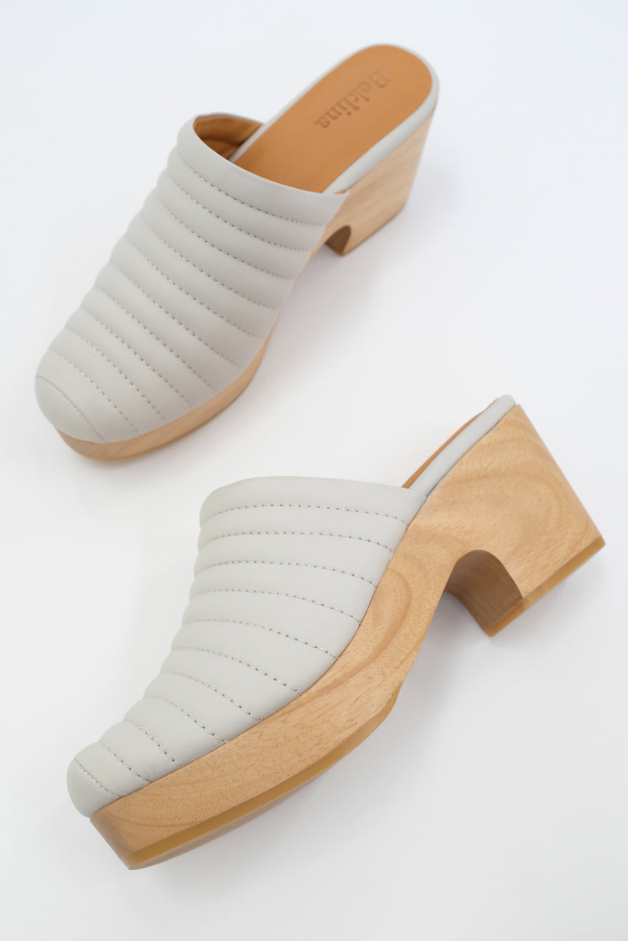 Beklina Ribbed Clog Soft Grey