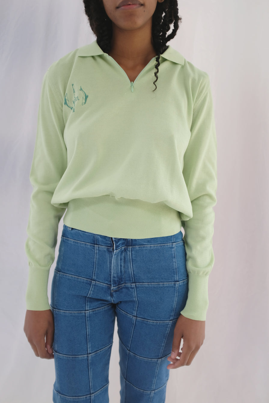 Paloma Wool Rafael Top Green Fluo