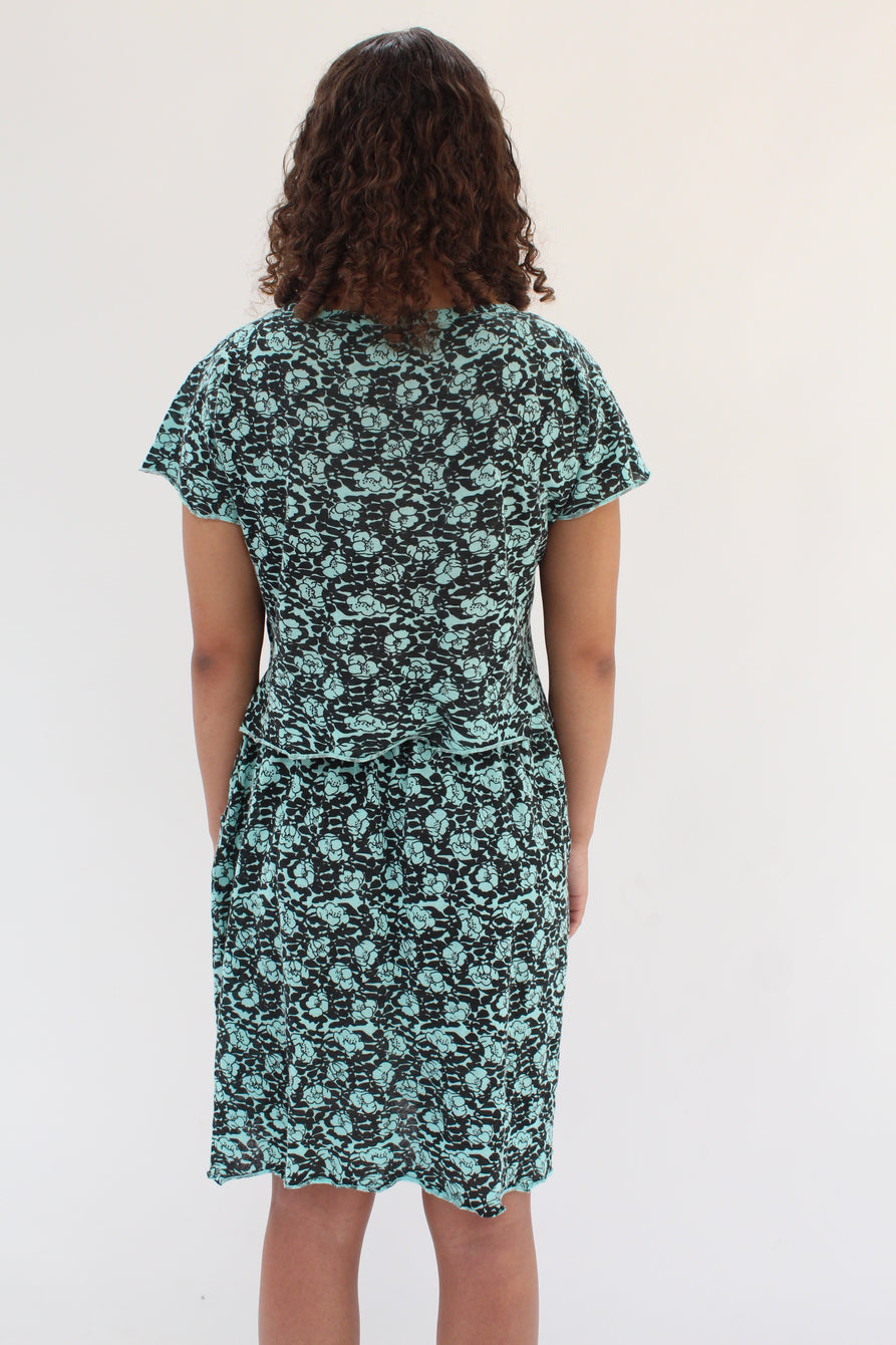 Beklina Detached Dress Aqua Poppy