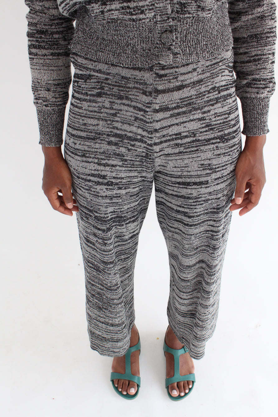 Beklina Cotton Knit Trouser Black/Grey